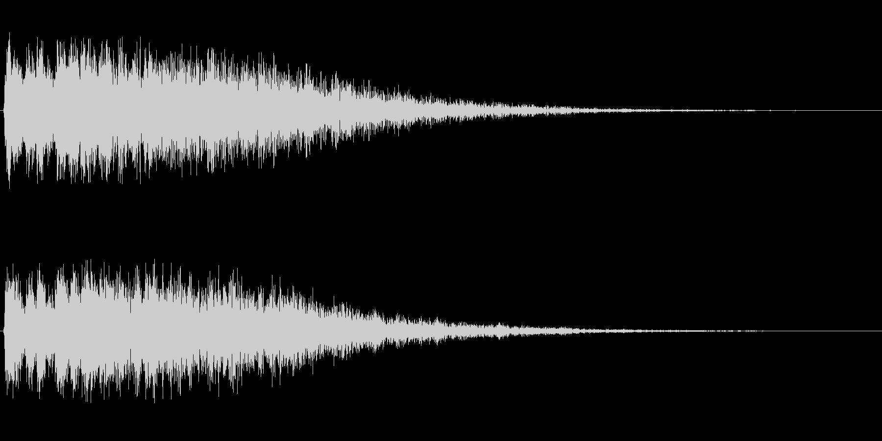 シュルン(キャラが飛び出すような音)の未再生の波形