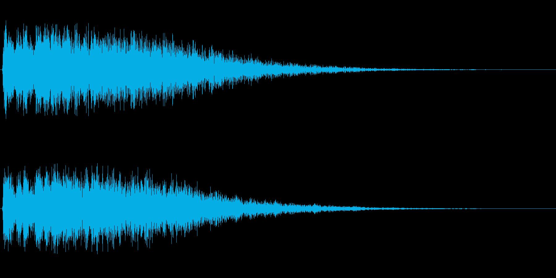 シュルン(キャラが飛び出すような音)の再生済みの波形