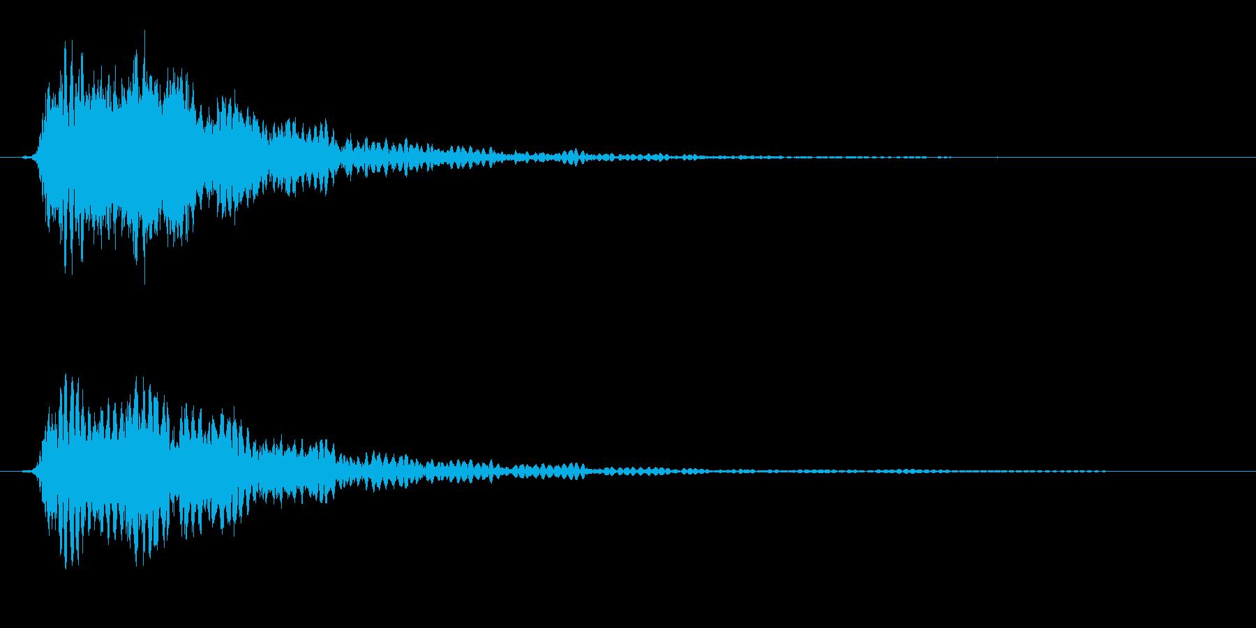 鎖などの金属的な打撃音の再生済みの波形