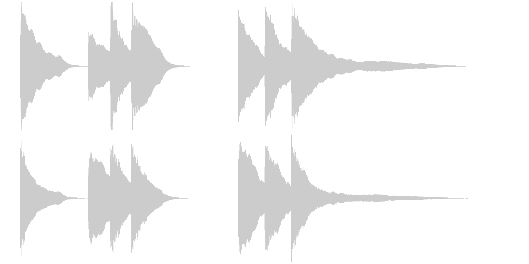 ピアノソロジングル06の未再生の波形