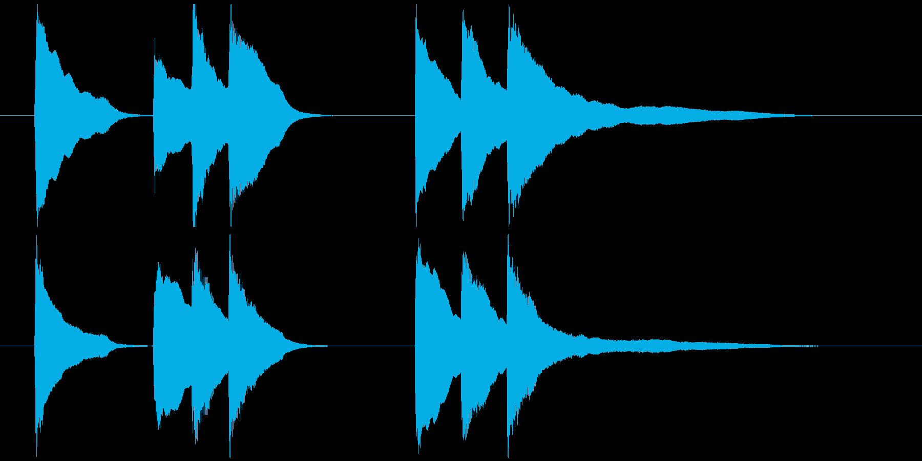 ピアノソロジングル06の再生済みの波形