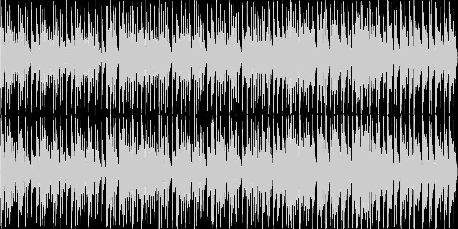明るく楽しい コミカルなラテンBGMの未再生の波形