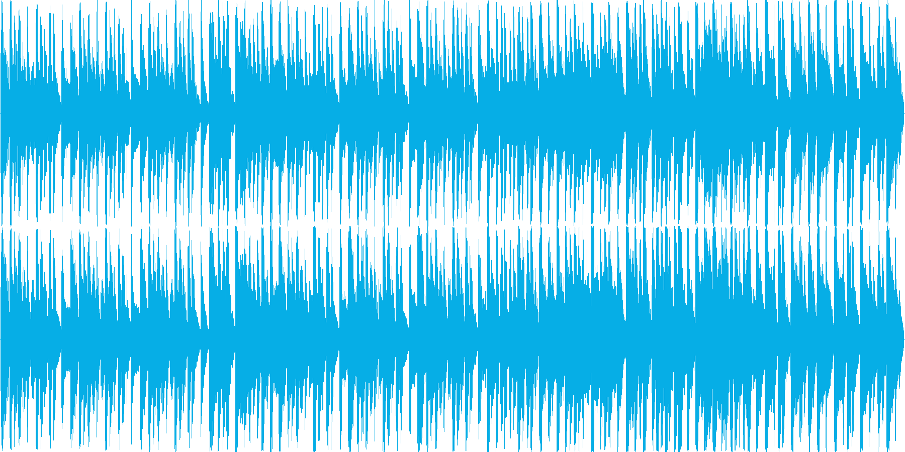 明るく楽しい コミカルなラテンBGMの再生済みの波形