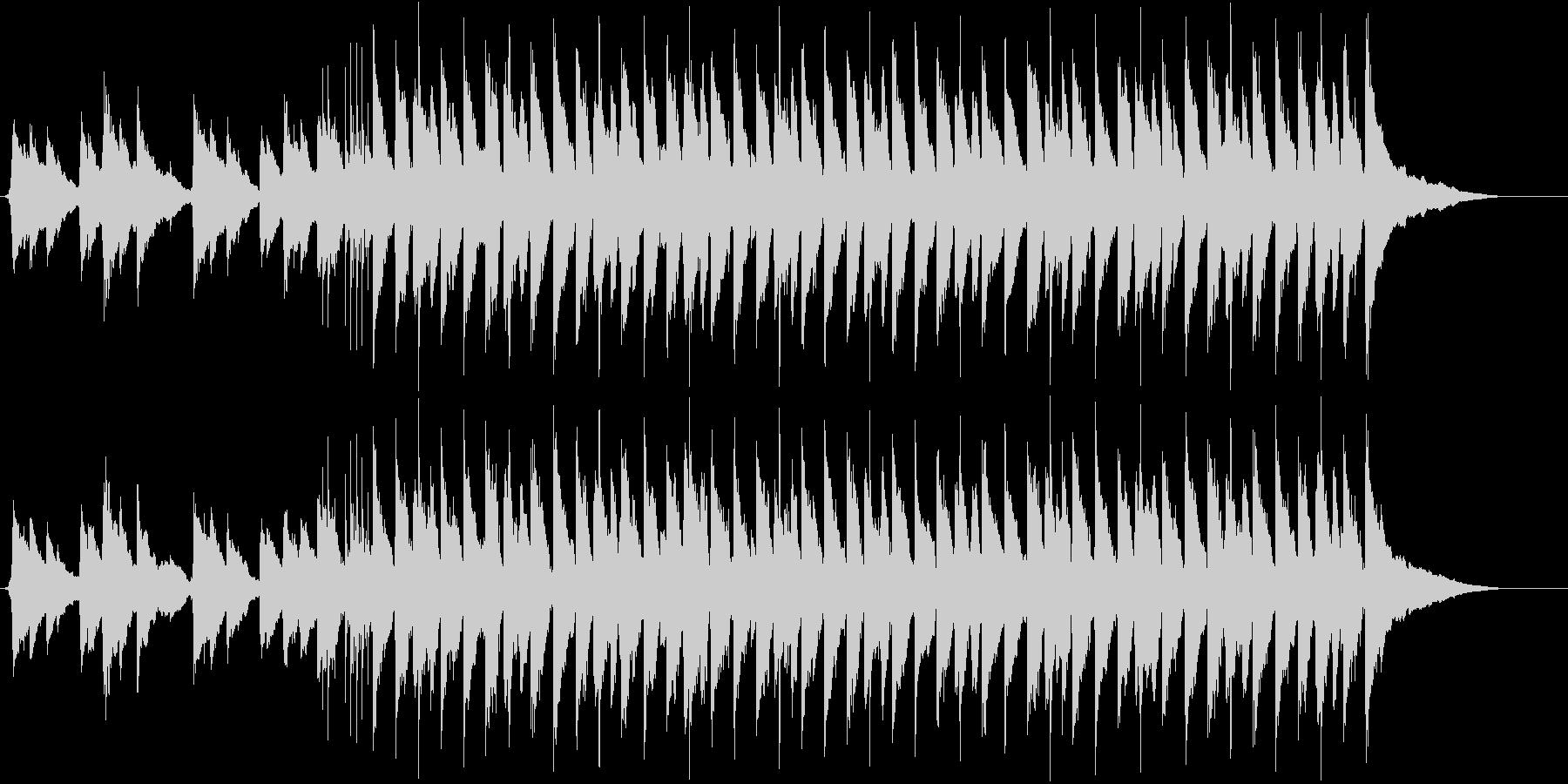 ピアノが光るゆったりさわやかなBGMの未再生の波形