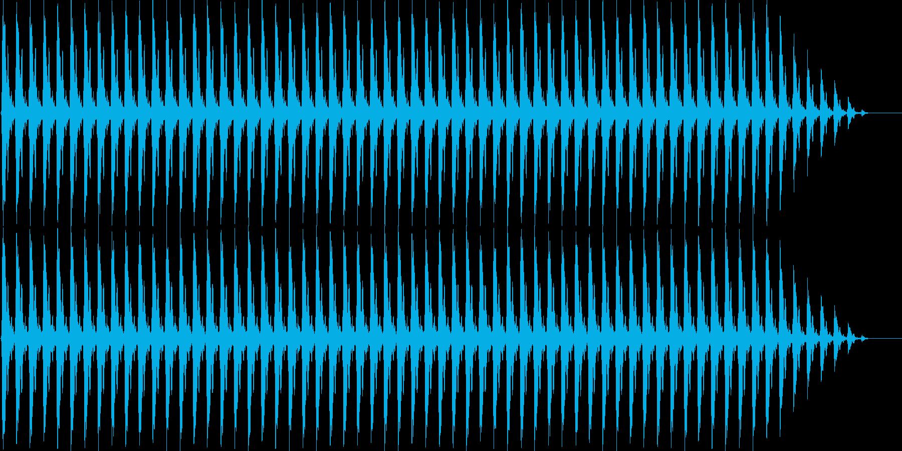 クリスマスの鈴の再生済みの波形