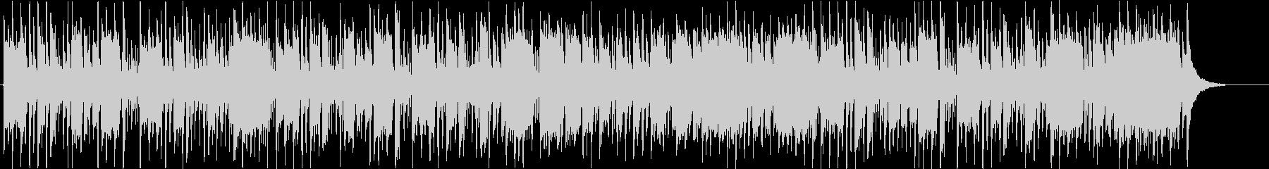 アップテンポで前向きな高音のポップな曲の未再生の波形