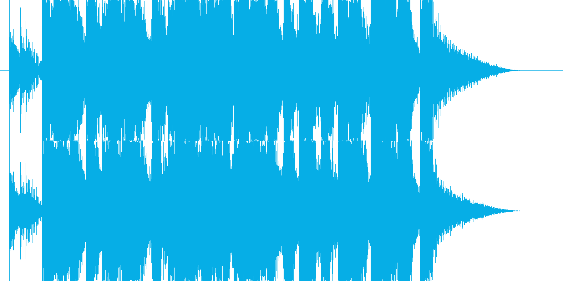 ブラス(金管楽器)系のカジノ的ジングルの再生済みの波形