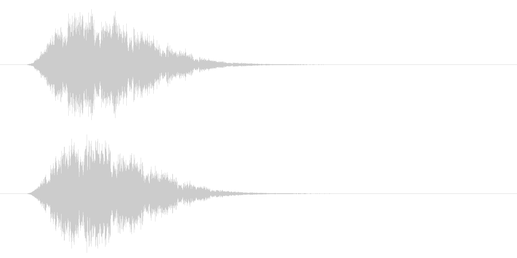 シュウィン 移動 インパクト音 ロゴの未再生の波形