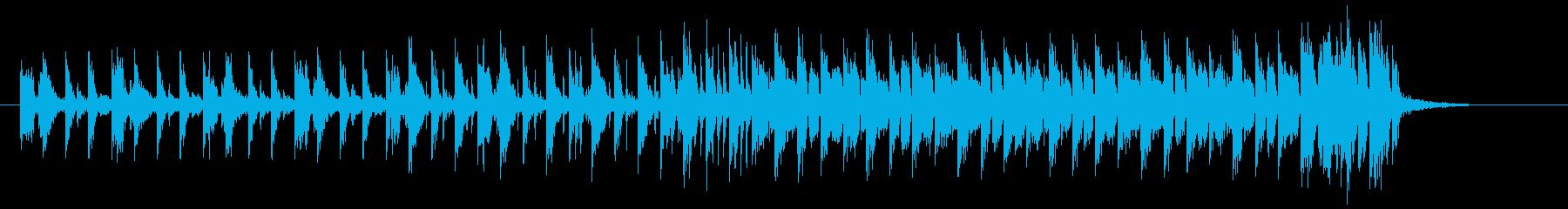 神秘的で躍動感あるビートシンセジングルの再生済みの波形