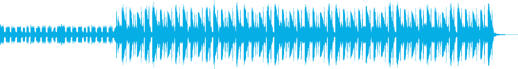 明るくリズミカルなBGMの再生済みの波形