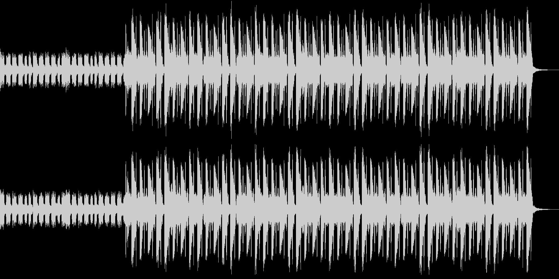 明るくリズミカルなBGMの未再生の波形