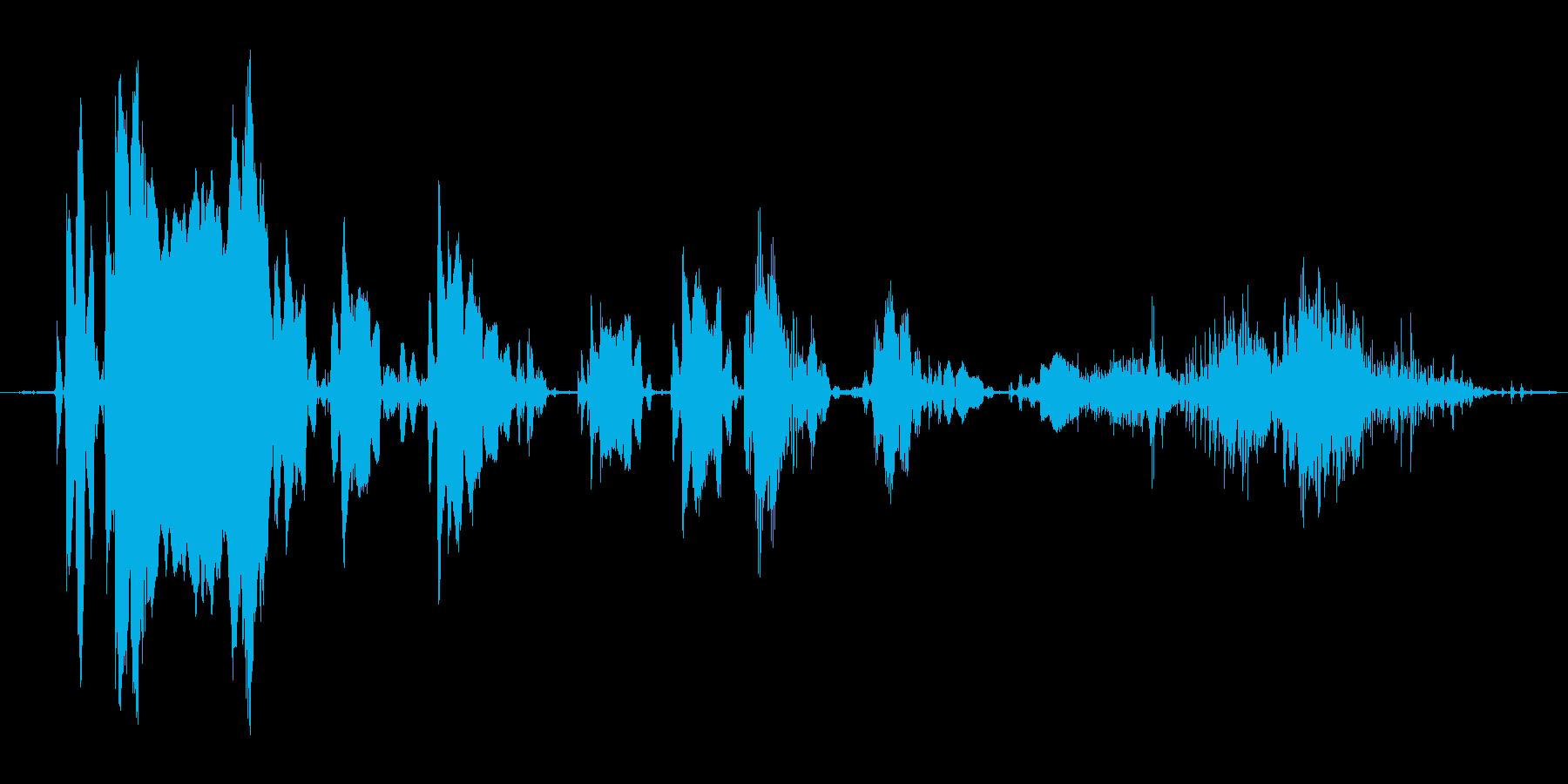 (おばけの鳴き声)の再生済みの波形