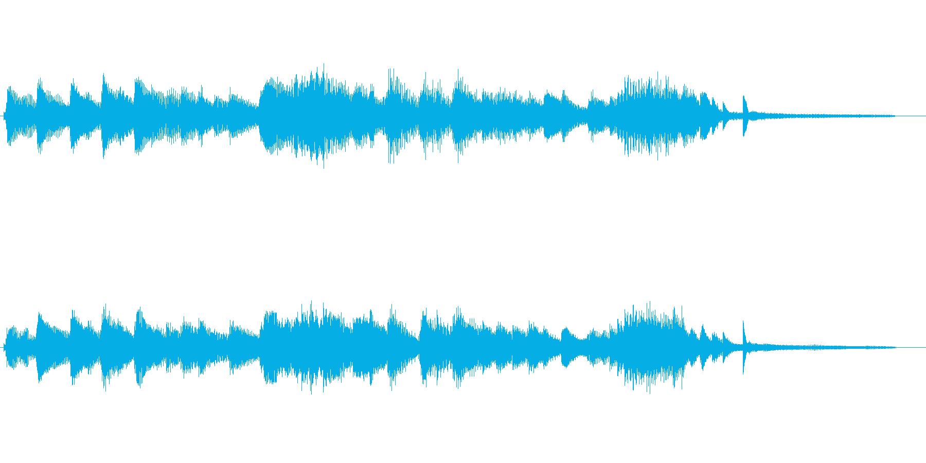 ノスタルジックで懐かしい雰囲気のジングルの再生済みの波形