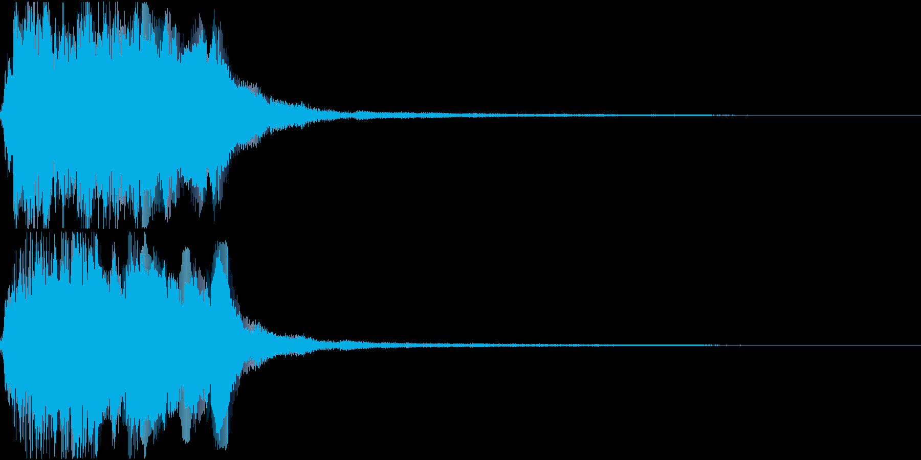 ラッパ ファンファーレ 定番 2 早いの再生済みの波形