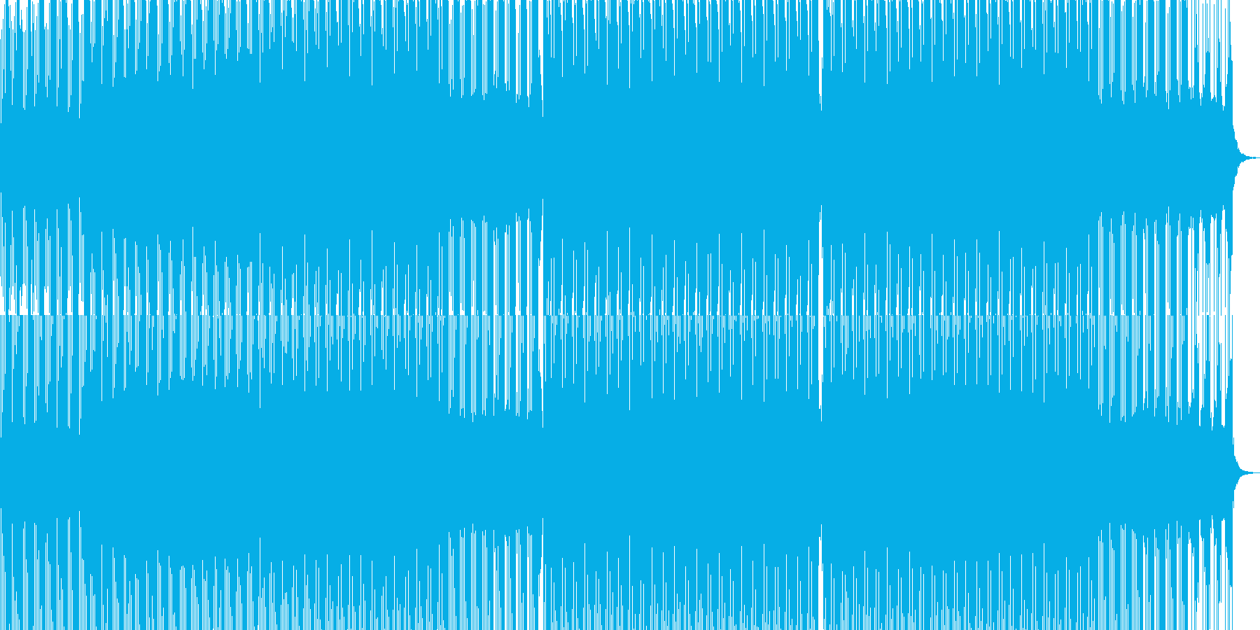 神秘的な4つ打ちハウスミュージックの再生済みの波形