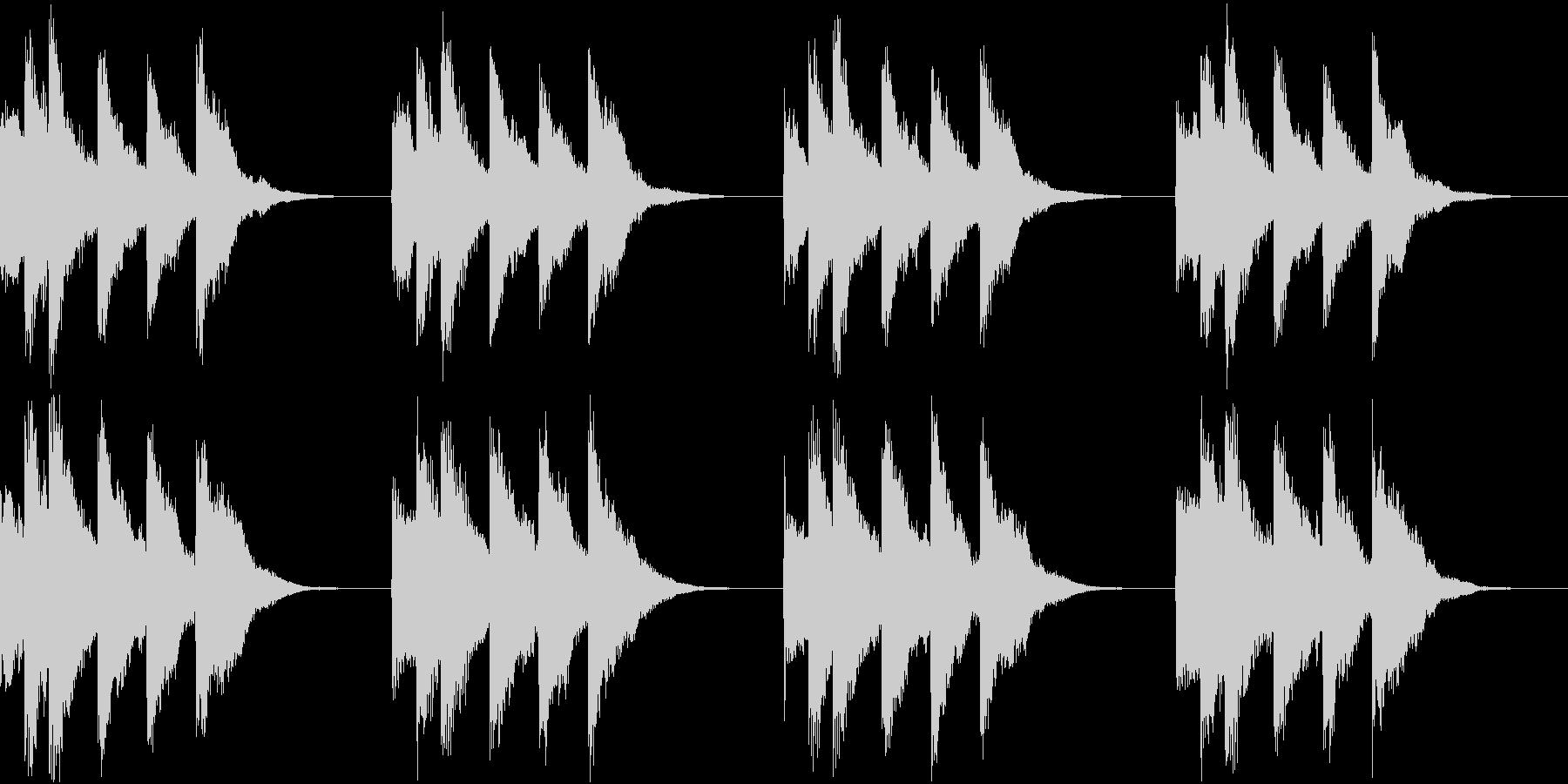 シンプル ベル 着信音 チャイム A18の未再生の波形