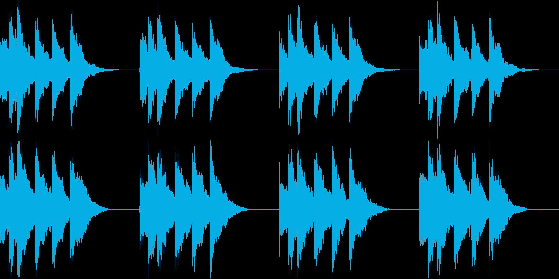シンプル ベル 着信音 チャイム A18の再生済みの波形