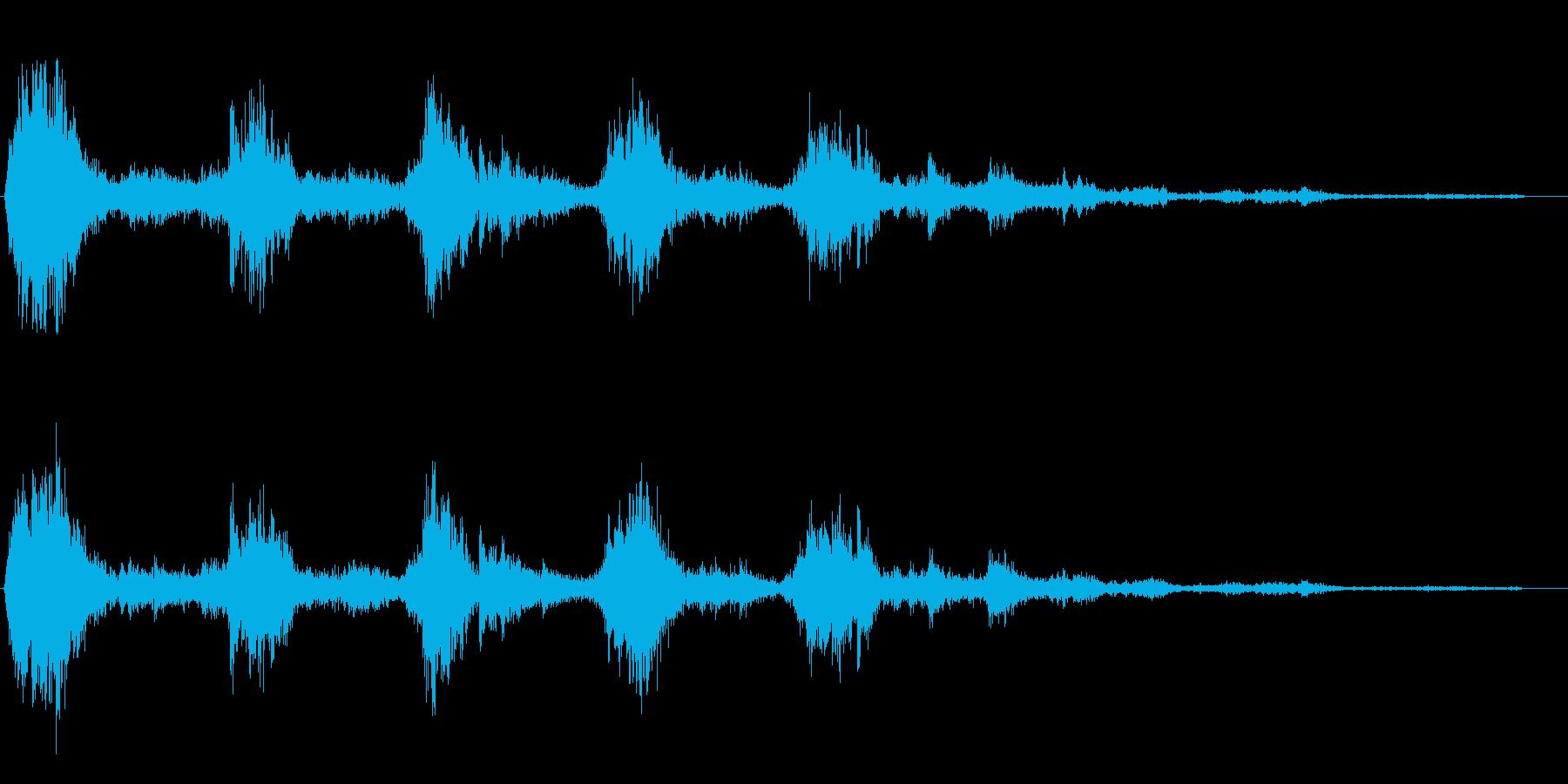 カランカラン(金属が擦り合う効果音)の再生済みの波形