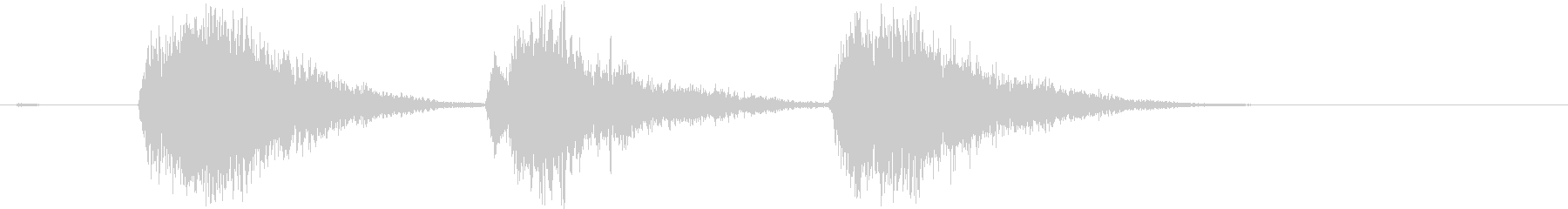 ゲーム等、開始前カウント(3-2-1)Jの未再生の波形
