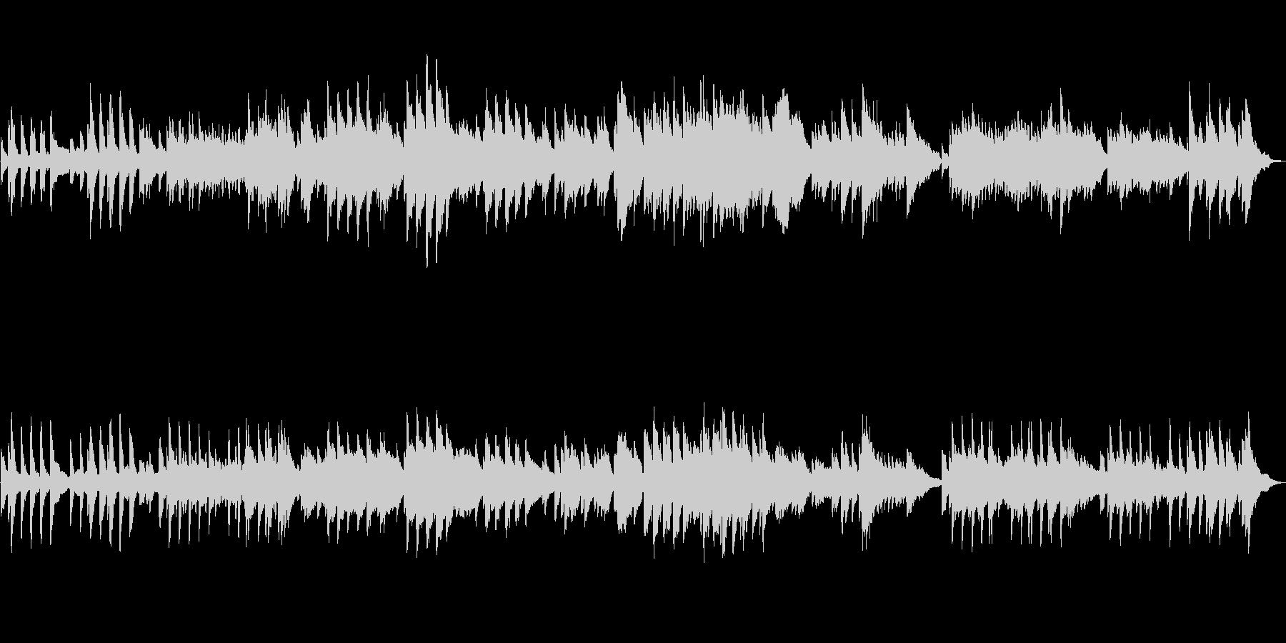クラシック風のシンプルなピアノソロの作品の未再生の波形