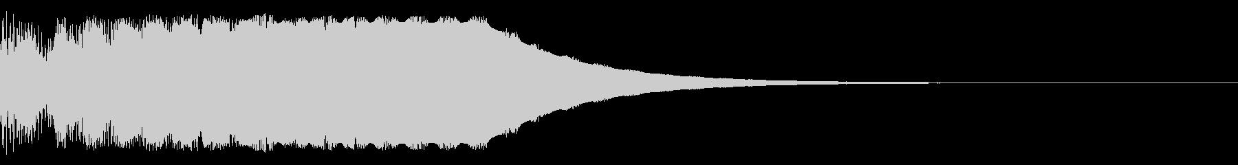 テロップ等にの未再生の波形