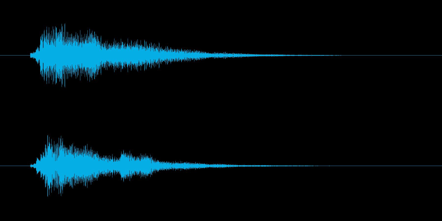 美しく透明感のある登場音(CM、番組)の再生済みの波形