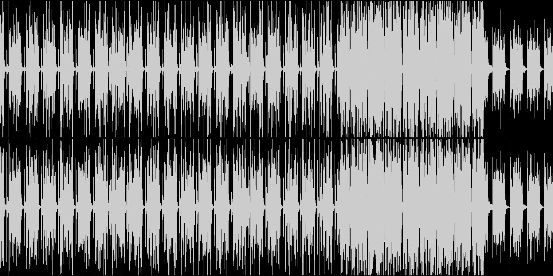 爽やかでポップに朝が始まるBGMの未再生の波形