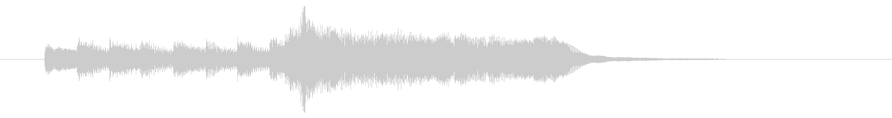 甘美で伸びやかなBGMサウンドの未再生の波形
