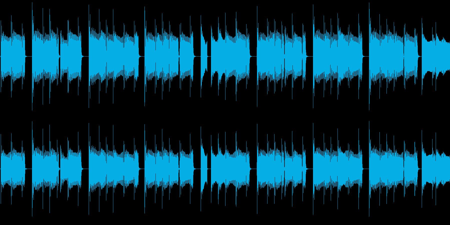 スラップベースを強くイメージしたループ…の再生済みの波形