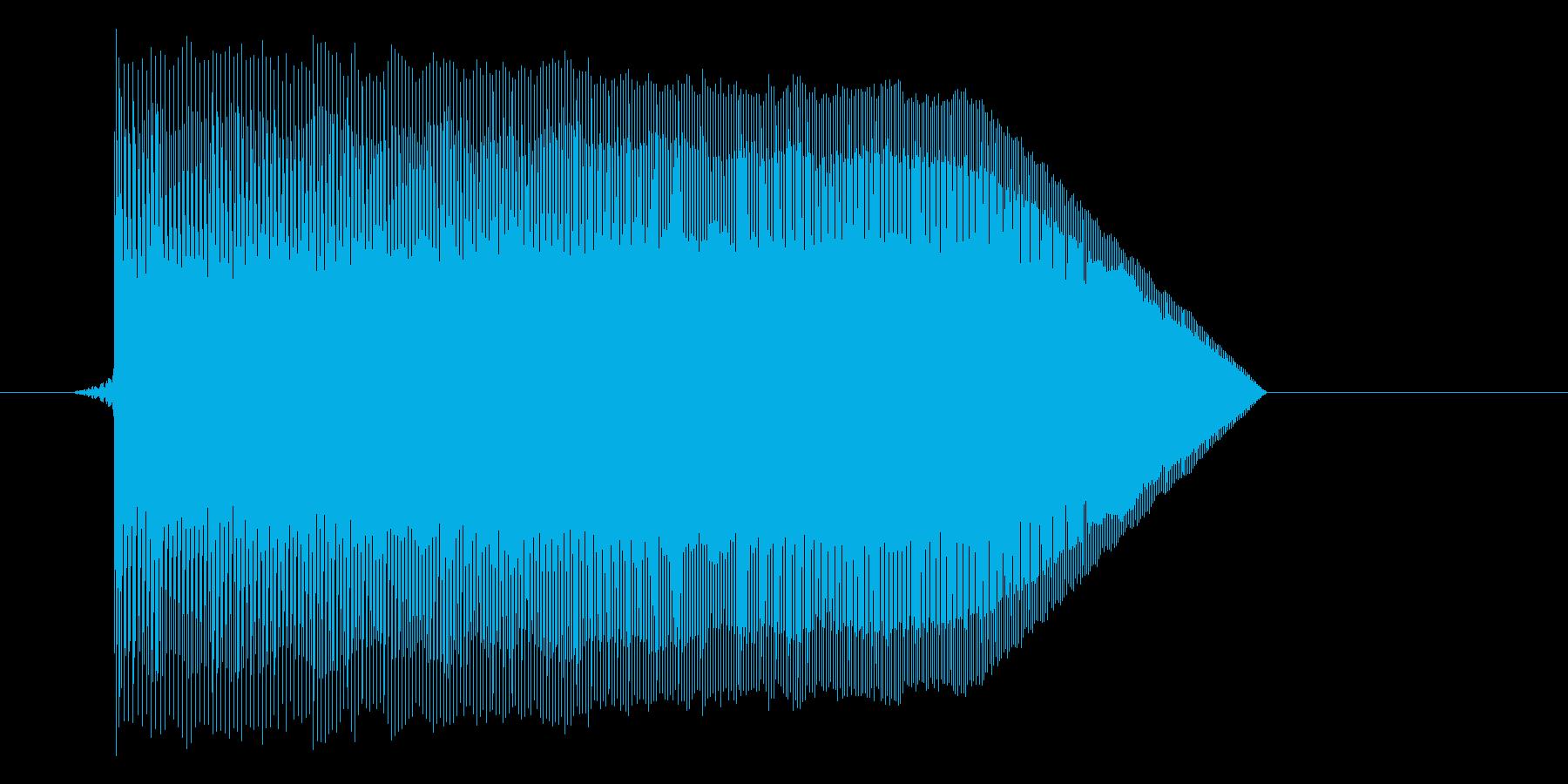 ゲーム(ファミコン風)ジャンプ音_004の再生済みの波形