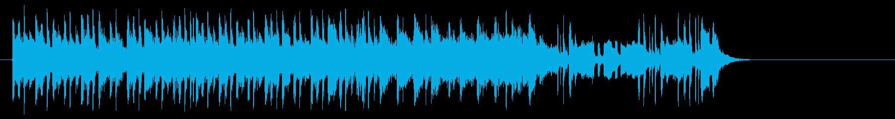 淡々としたポップ(サビ~イントロ)の再生済みの波形