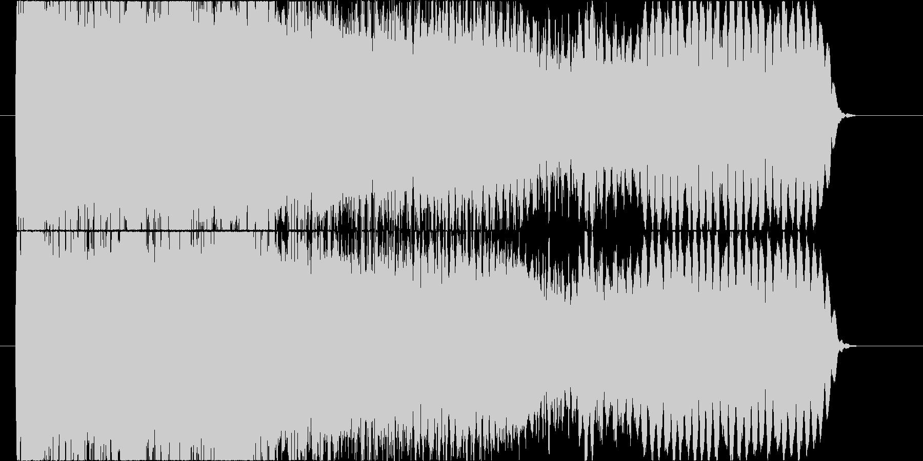 エレキギターのフィードバック音コードC#の未再生の波形