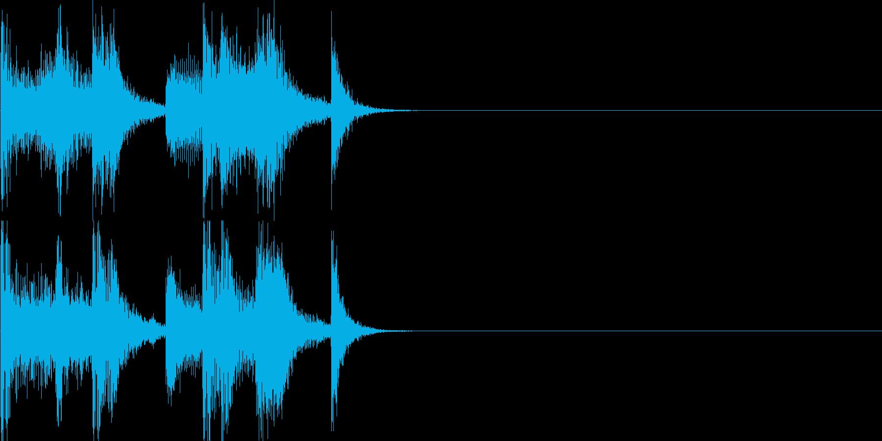 ちゃきちゃきジングルの再生済みの波形