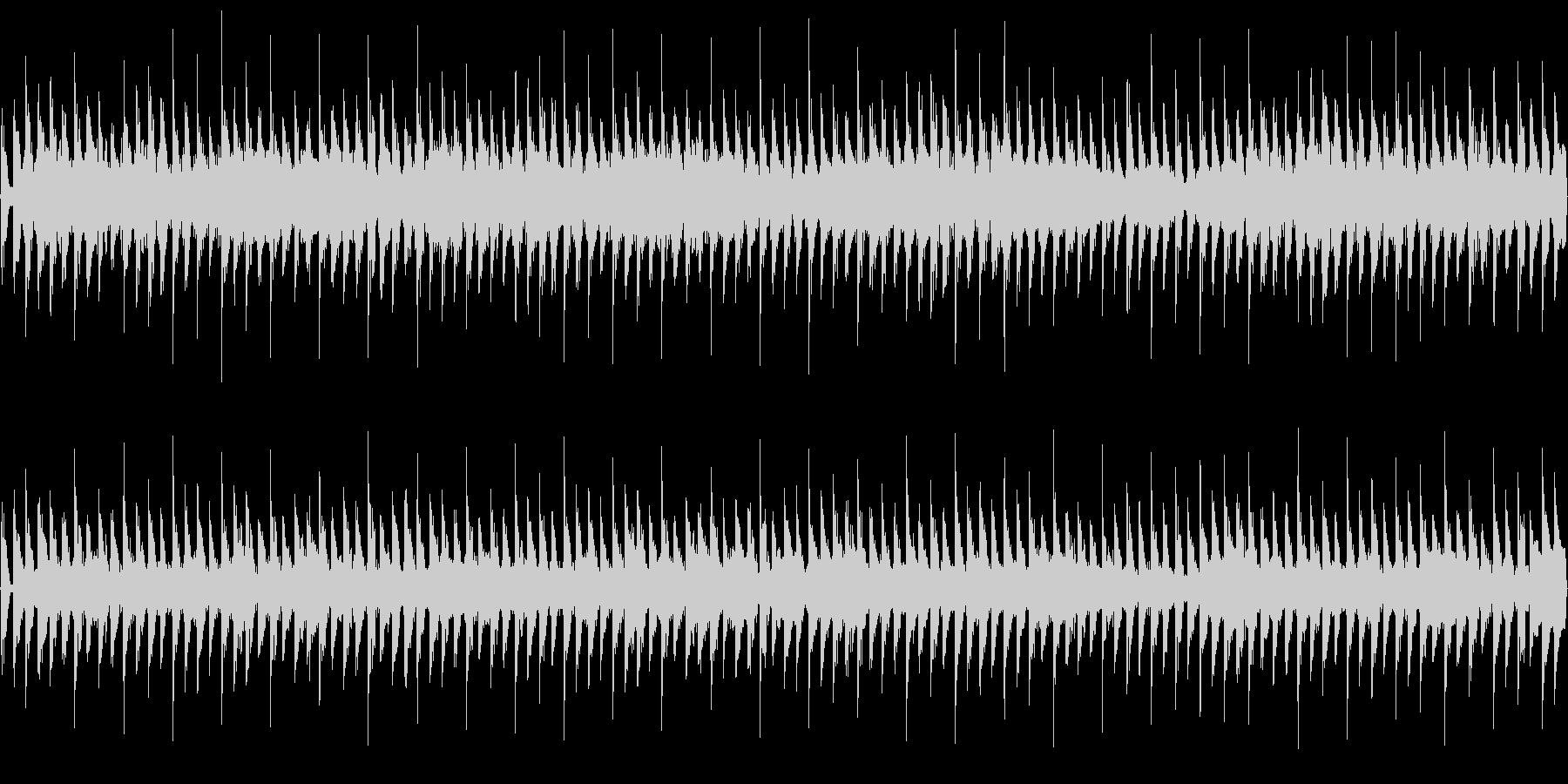 パズル想定のループ可4つ打ちテクノポップの未再生の波形