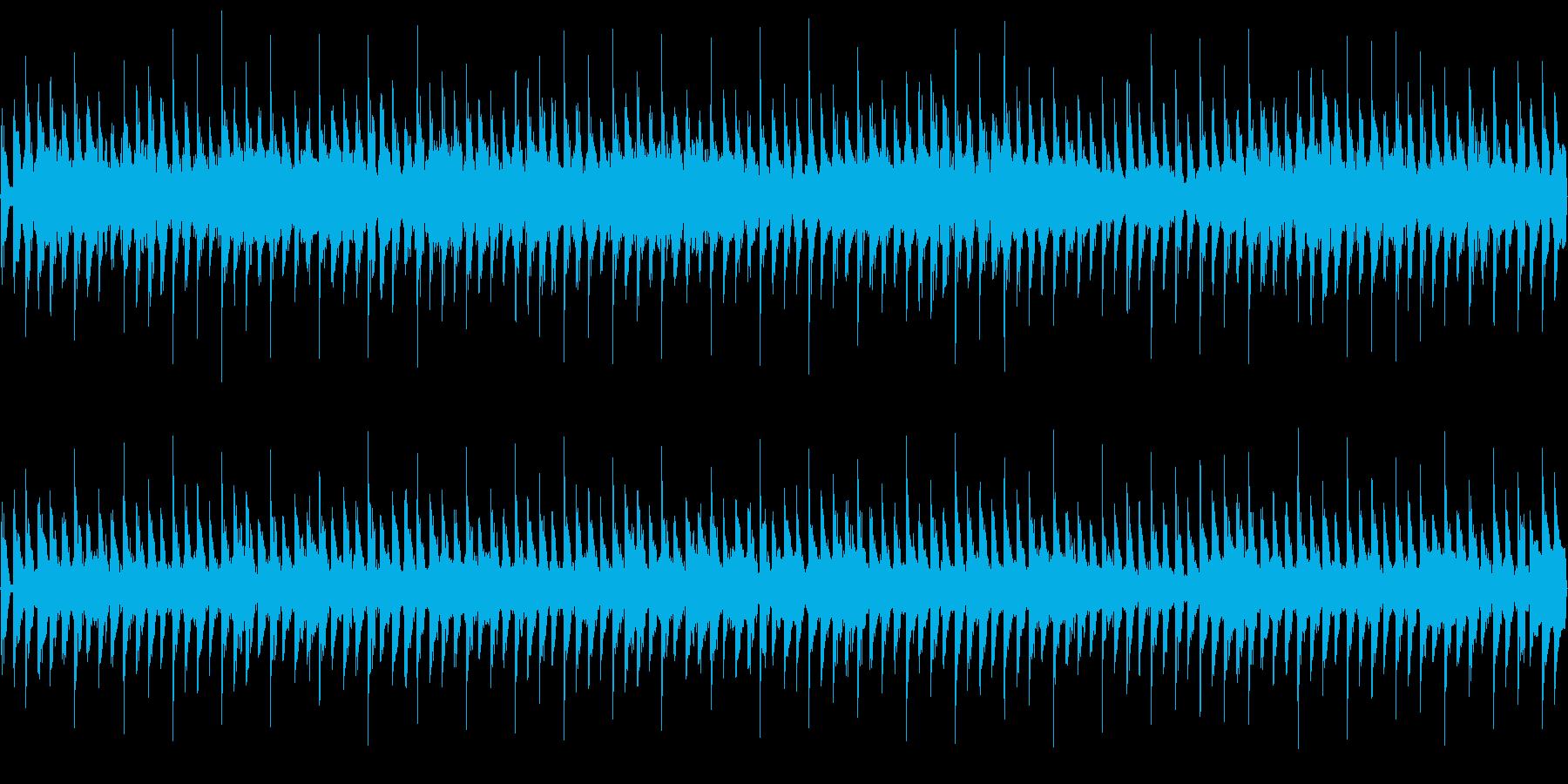 パズル想定のループ可4つ打ちテクノポップの再生済みの波形