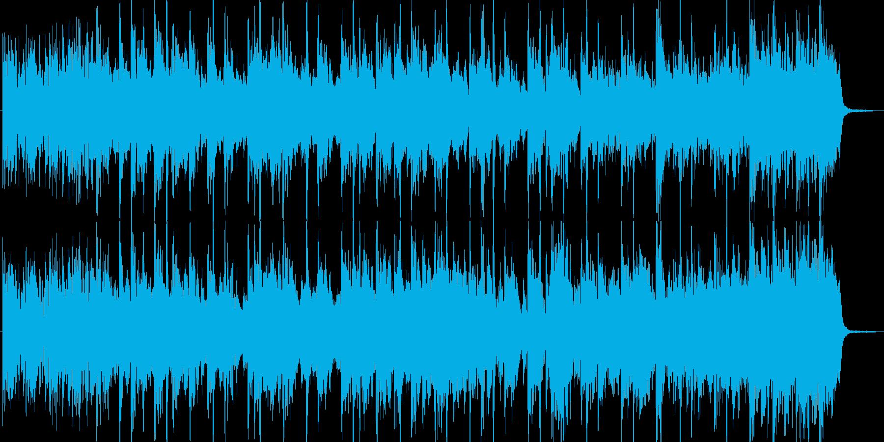 ファンキーで軽快なシンセジングルの再生済みの波形
