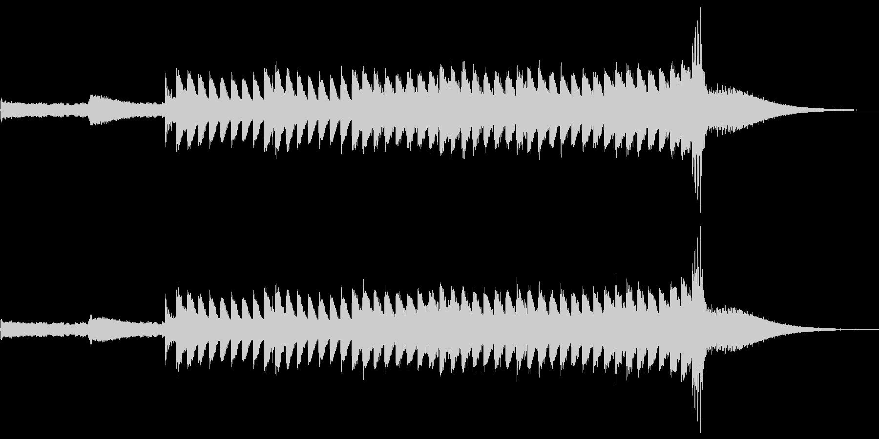 少し長めのCMを想定して作りました。テ…の未再生の波形
