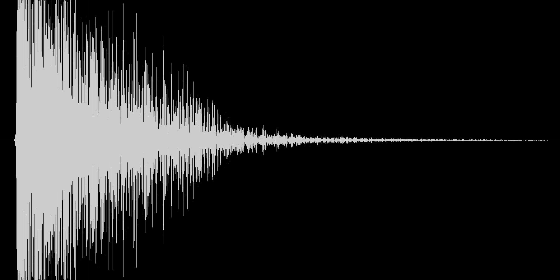 魔法を使ったようなピュルルルという音の未再生の波形