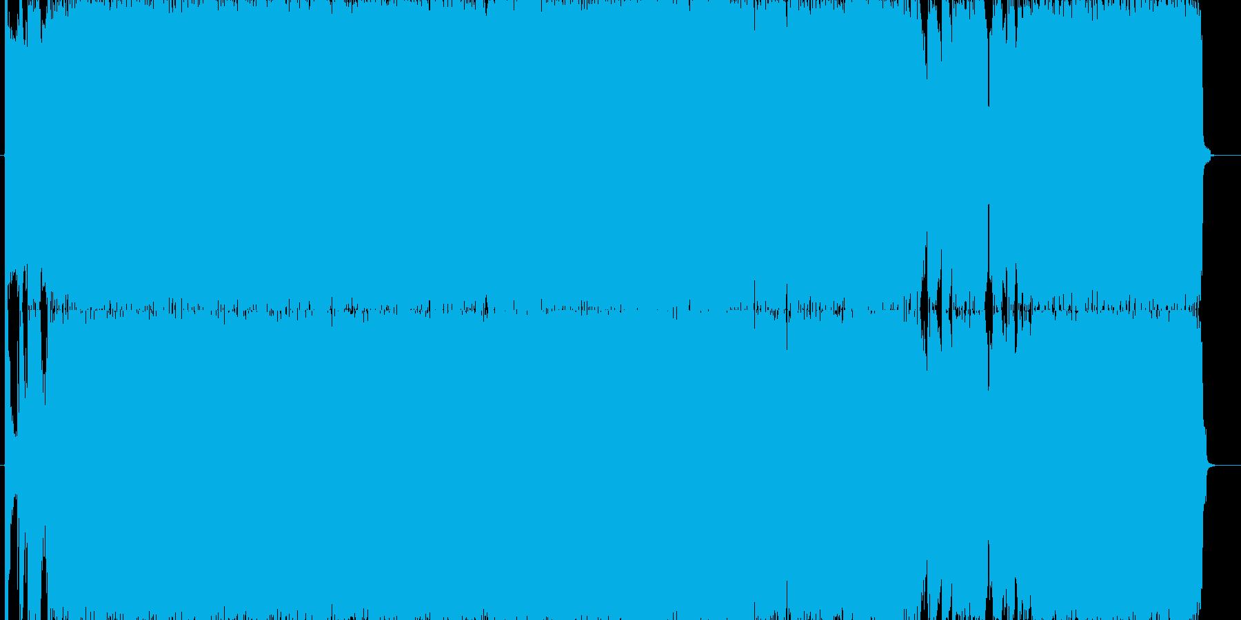 スピード感のあるハードロックの再生済みの波形