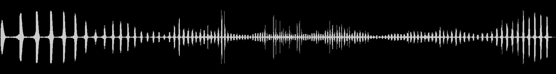 コミカル飛行音(飛んでまた着陸)の未再生の波形