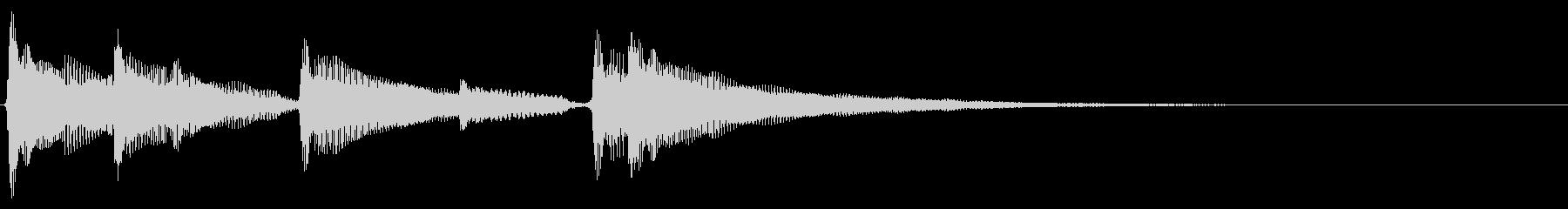 アコギ生音のジングル/爽やか4の未再生の波形