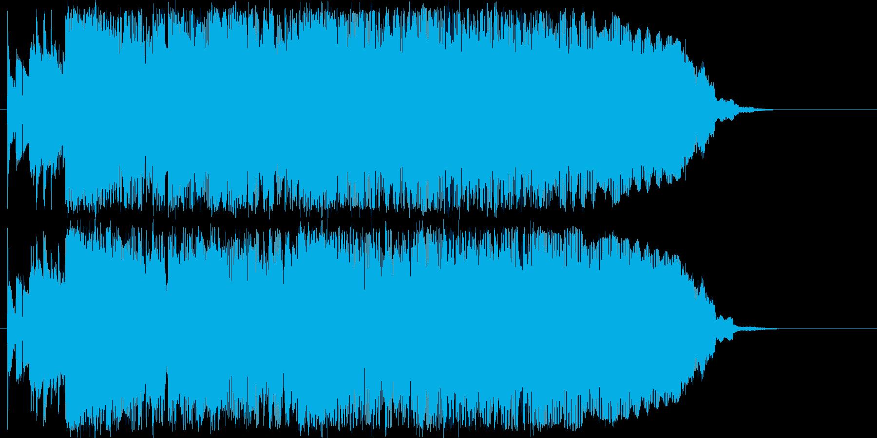 ハミングの入ったさわやかなジングルの再生済みの波形