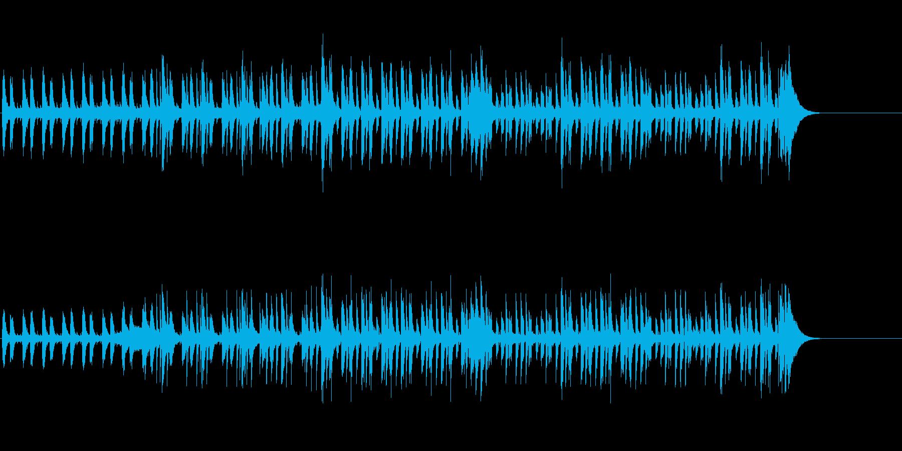 ピアノとベースによるジャズの再生済みの波形
