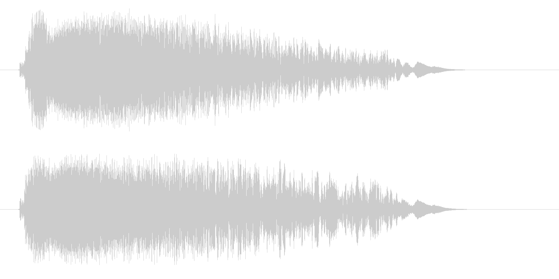 ピシューン(鋭く早い風切り音)の未再生の波形