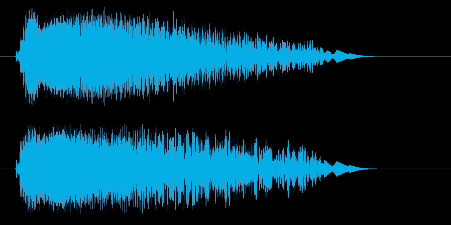 ピシューン(鋭く早い風切り音)の再生済みの波形