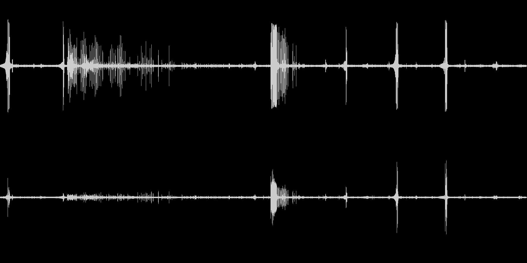 ホーホケキョ(ウグイスの鳴き声)の未再生の波形