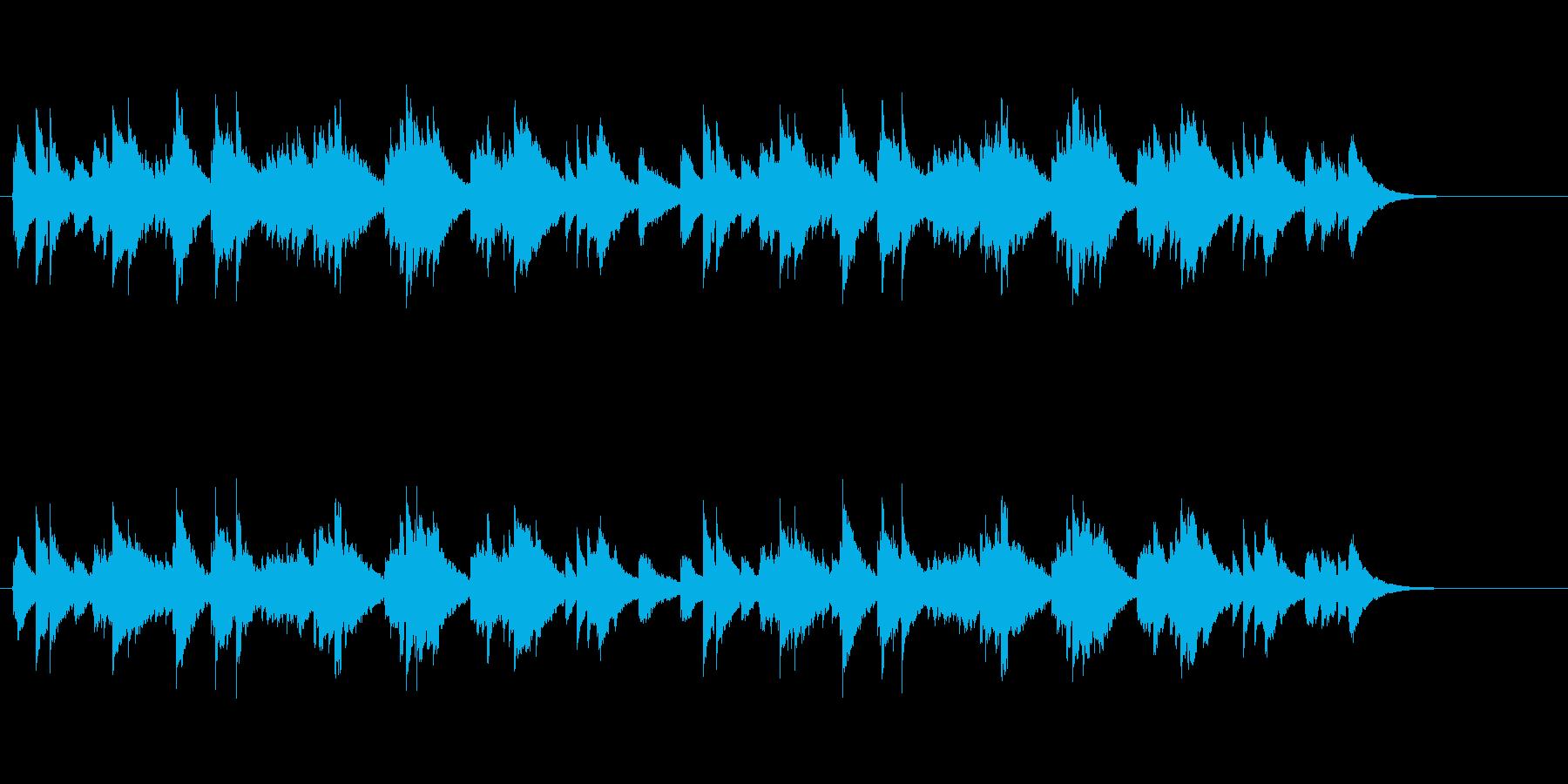 ツインアコースティックギターサウンドの再生済みの波形