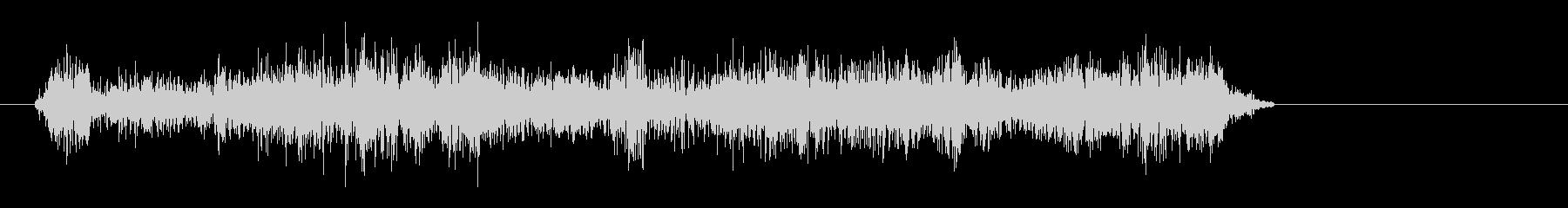 レーザービーム・宇宙人の声の未再生の波形