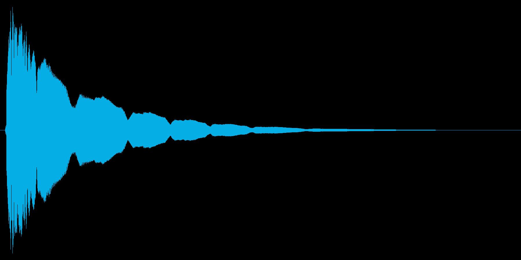 【光る】キュピーンの再生済みの波形