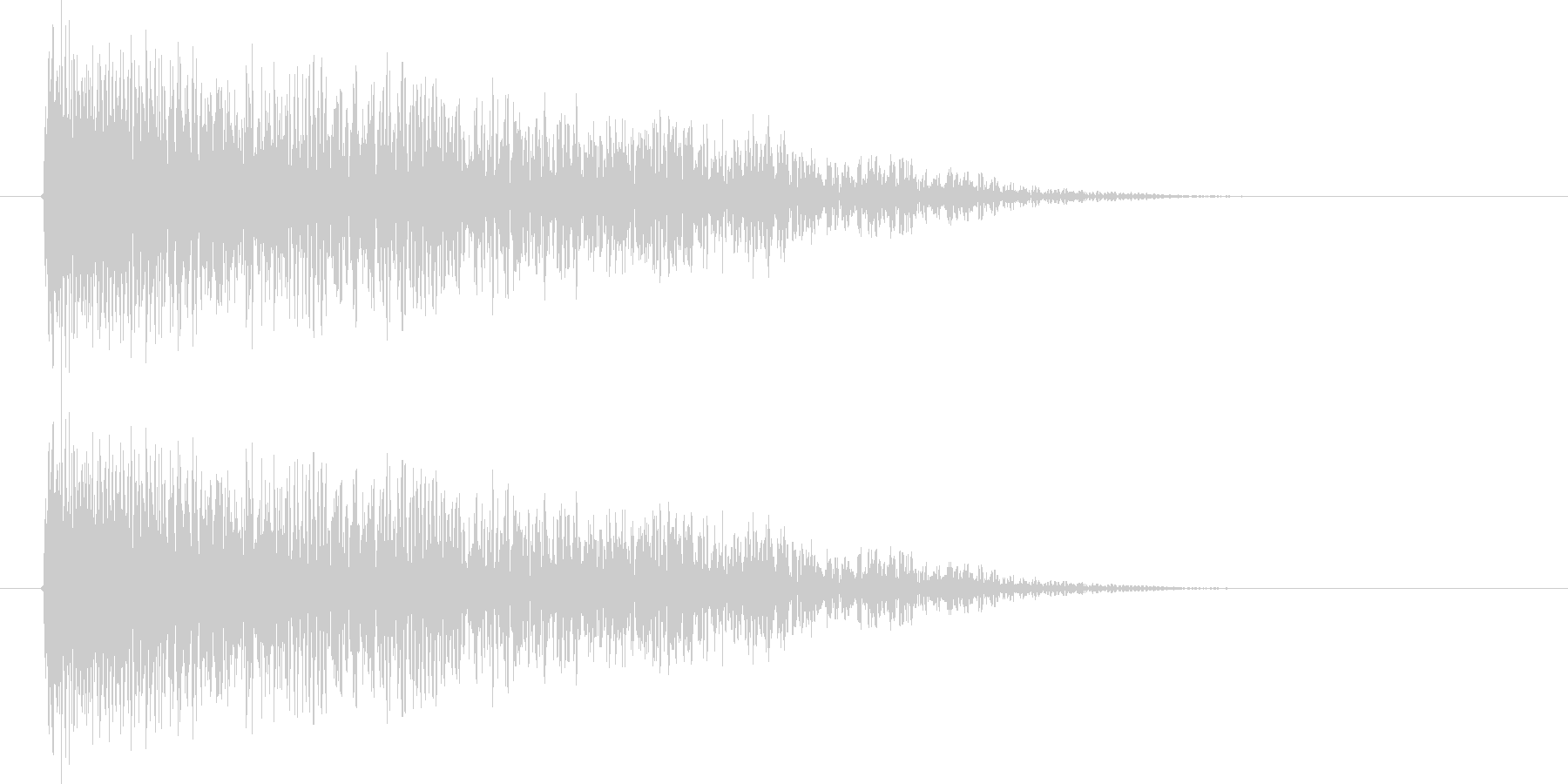 ババーン(クラッシュ、金属系の叩く音)の未再生の波形